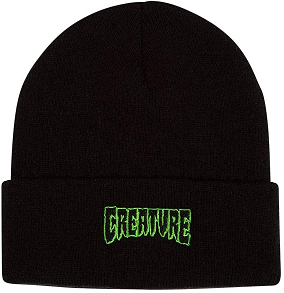 Creature Skateboards Logo Outline Long Shoreman Beanie - Black