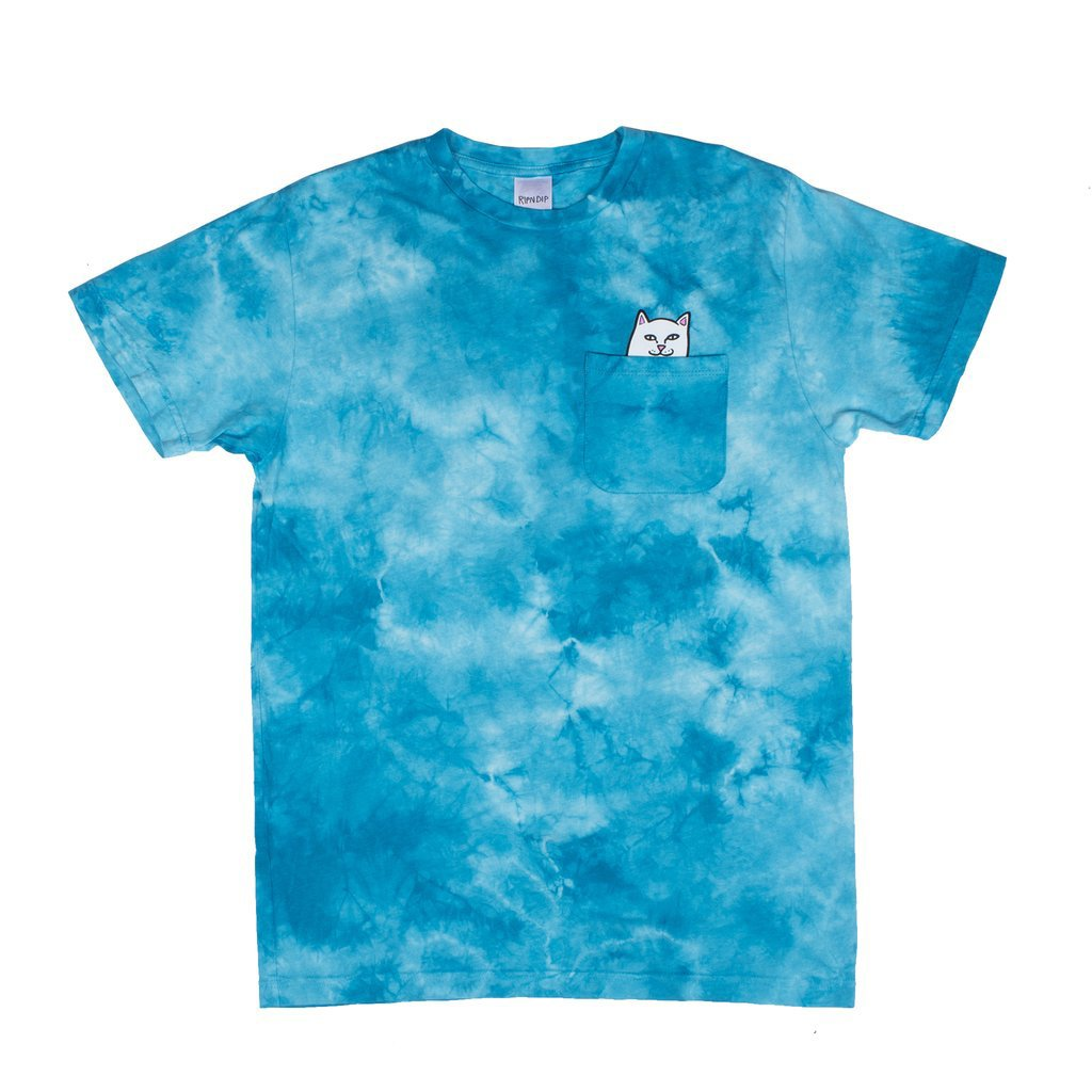 Rip N Dip Lord Nermal T-Shirt - Turquoise Lightening Wash