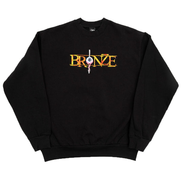 Bronze 56K Always Hard Embroidered Sweatshirt - Black