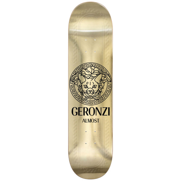 Almost Skateboards Max Geronzi R7 Runway Metallic Gold Skateboard Deck - 8.5