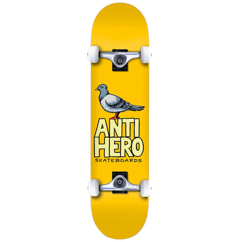 Anti Hero Pigeon Hero Complete Skateboard Yellow - 8.25