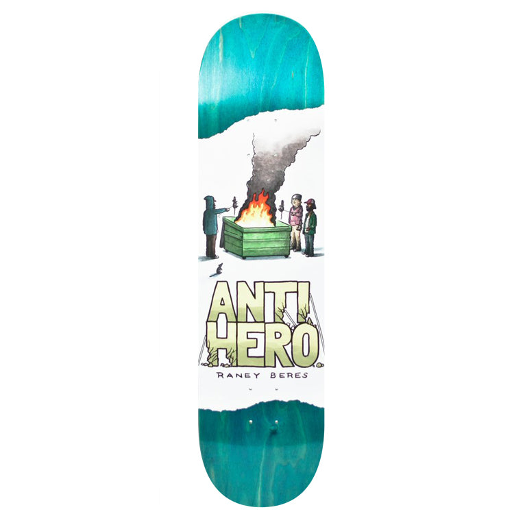 Anti Hero Raney Beres Expressions Skateboard Deck - 8.25 (Teal Stain)