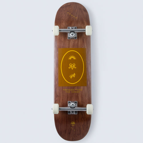 Arbor Collective Whiskey Revert Complete Skateboard - 8.5 (With Ace Trucks)