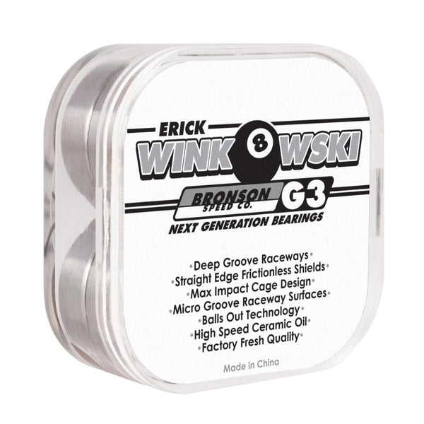 Bronson Speed Co. Erick Winkowski Pro G3 Bearings - Black/White
