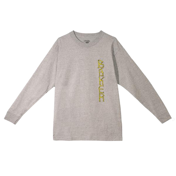 Baker Skateboards Aggro Long Sleeve Tee - Grey
