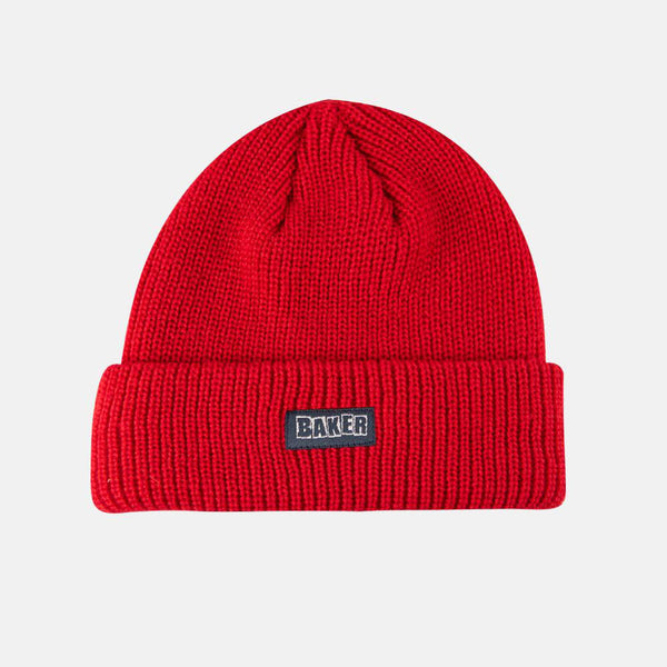 Baker Skateboards Brand Logo Beanie Red