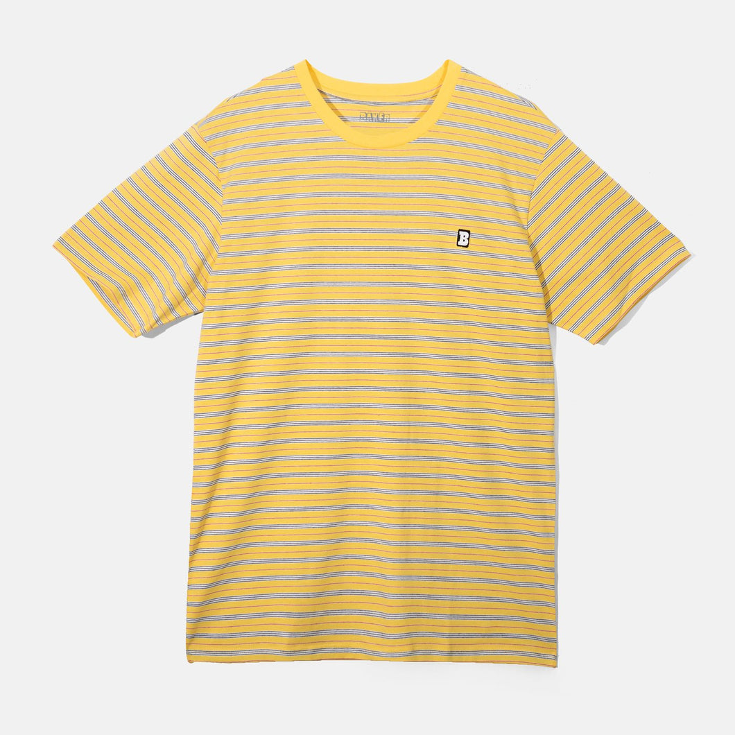 Baker Skateboards Capital B Yellow Stripe Tee