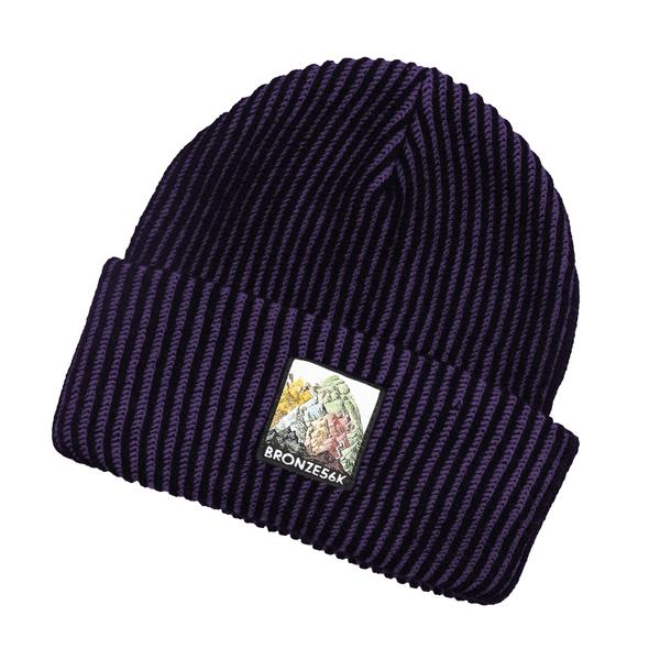 Bronze 56K Mountain Beanie - Purple