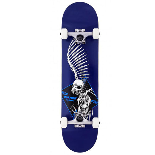 Birdhouse Stage 1 Full Skull 2 Blue Complete Skateboard - 7.5