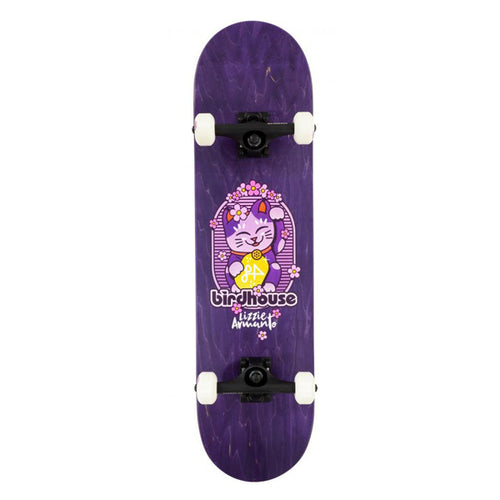 Birdhouse Stage 3 Armanto Maneki Neko Purple Complete Skateboard - 8.00