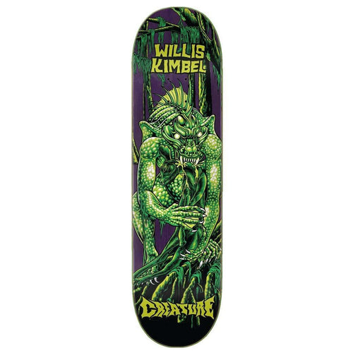 Creature Kimbel Swamp Lurker P2 Green Skateboard Deck - 9.00