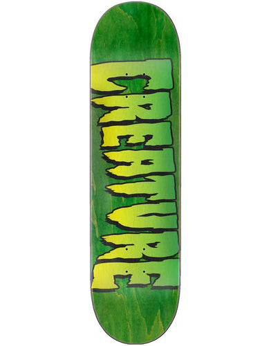 Creature Stump Logo Green Skateboard Deck - 8.5