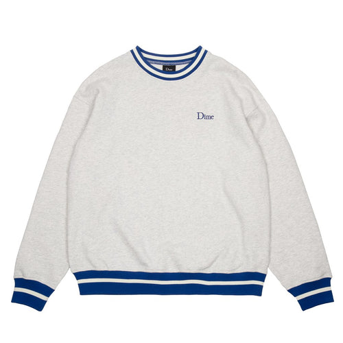 Dime MTL Classic French Terry Crewneck - Ash/Blue