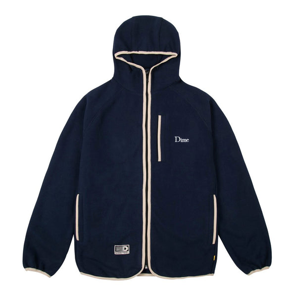 Dime MTL Polar Fleece Hooded Jacket - Navy