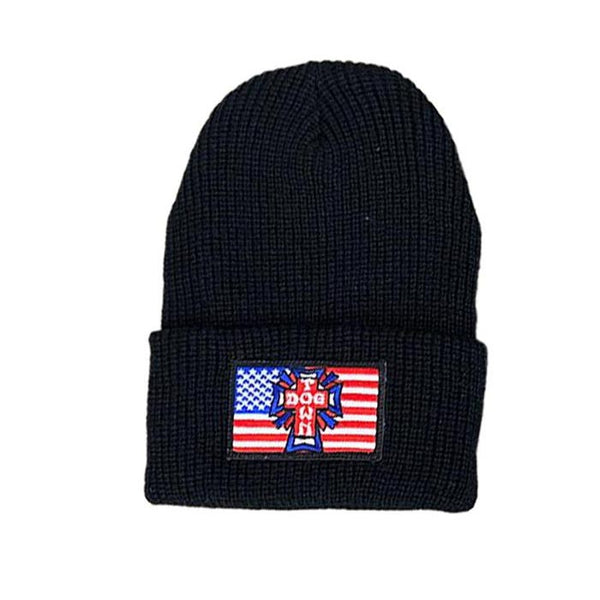 Dogtown Skates Flag Beanie Black