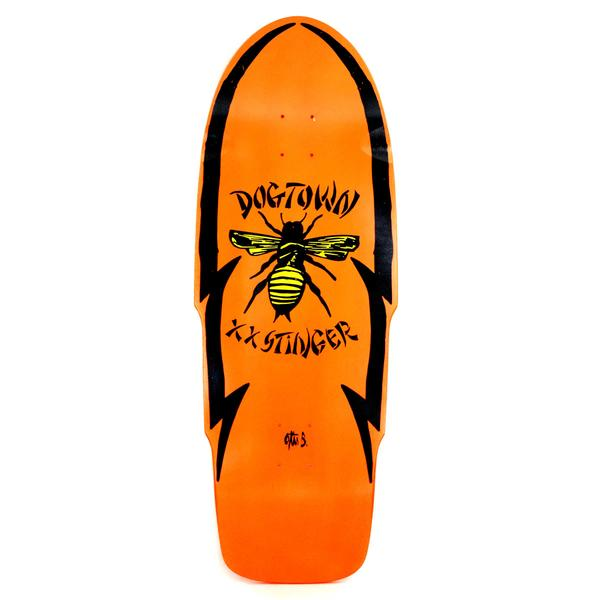 Dogtown 'O' Stinger Skateboard Deck Neon Orange - 11.25 x 32.00