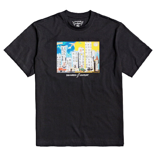 Element Skateboards X Bad Brains Flint Tee - Black