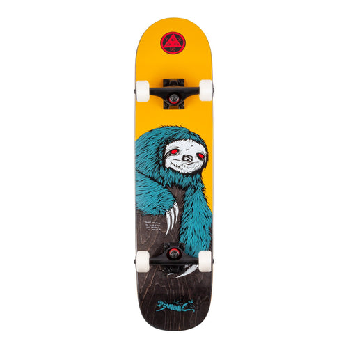 Welcome Skateboards Sloth Complete on Scaled Down Bunyip Complete Skateboard (Gold/Black Stain) - 7.75