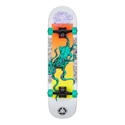 Welcome Skateboards Bactocat Complete on Bunyip Complete Skateboards (White) - 8.00