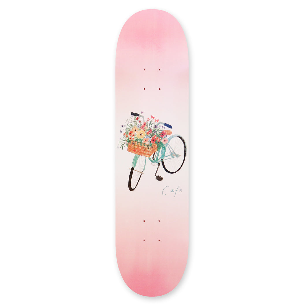 Skateboard Cafe Flower Basket Skateboard Deck Pink - 8.00