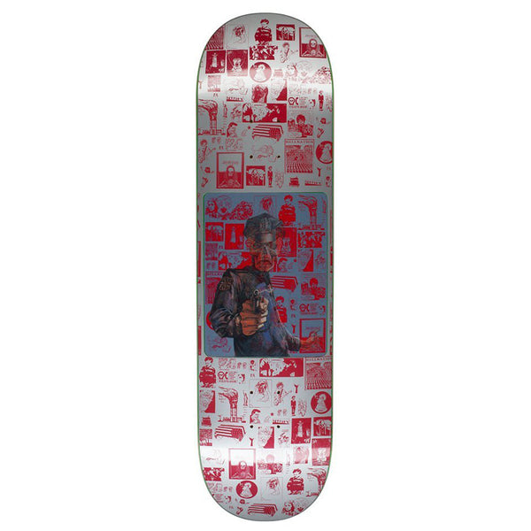 Fucking Awesome Aidan Hologram Silver Skateboard Deck - 8.25