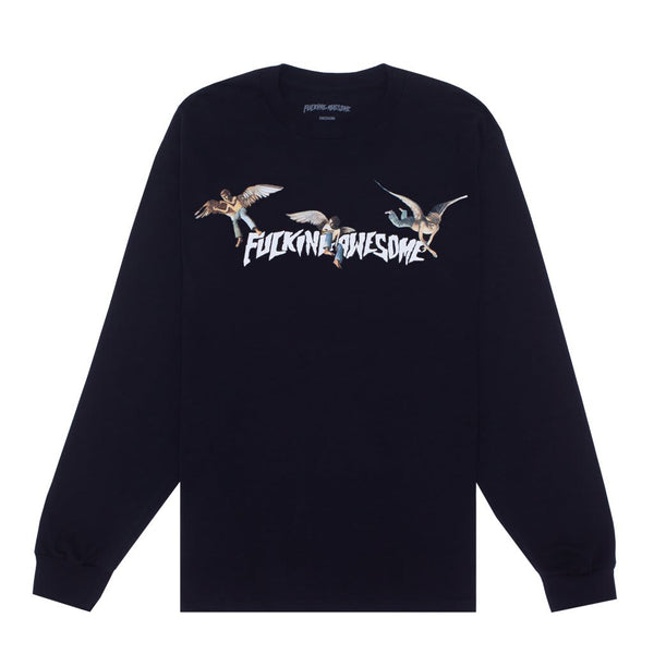 Fucking Awesome Angel Stamp L/S Tee Black