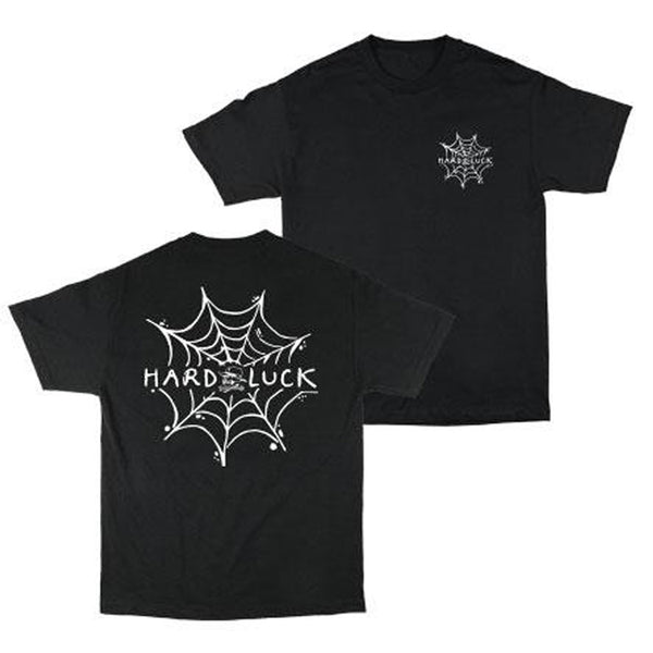 Hard Luck Andy Roy Spider Web T-Shirt Black