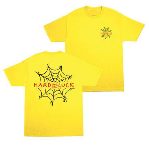 Hard Luck Andy Roy Spider Web T-Shirt Yellow