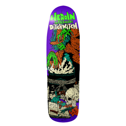Heroin Skateboards Ditch Witch 4 Skateboard Deck - 9.3