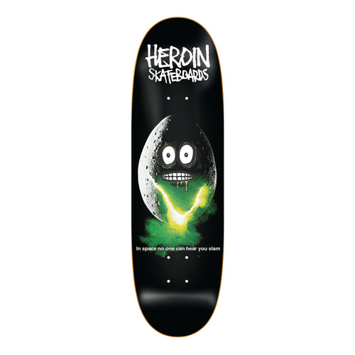 Heroin Skateboards Space Egg Skateboard Deck - 9.4