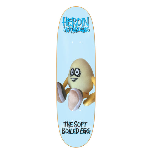 Heroin Skateboards The Soft Boiled Egg Skateboard Deck - 8.7