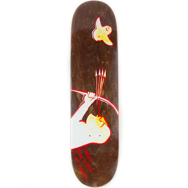 Krooked Bobby Worrest Archur Twin Tail Slick Skateboard Deck - 8.38 (Various Colour Stains)