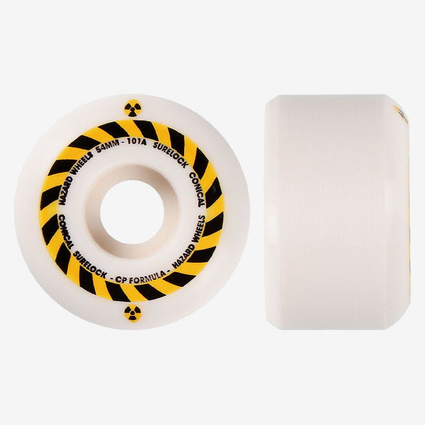 Madness Hazard Sign CP Conical Surelock Skateboard Wheels - 53mm