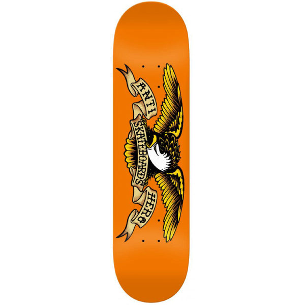 Anti Hero Skateboards Classic Eagle Skateboard Deck Orange - 9.00