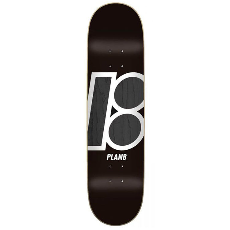 Plan B Team Stain Black Skateboard Deck - 8.125