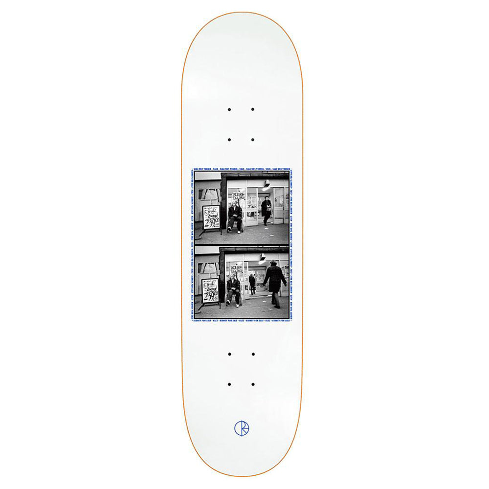 Polar Skate Co Klez Zawisza Kidney For Sale 2.0 White Skateboard Deck - 8.125
