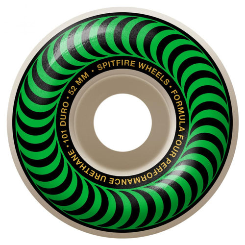 Spitfire Formula Four Classics 101A Skateboard Wheels Green Swirl - 52mm