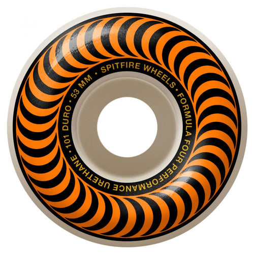 Spitfire Formula Four Classics 101A Skateboard Wheels Orange Swirl - 53mm