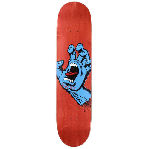 Santa Cruz Screaming Hand Red Stain  Skateboard Deck - 8.00