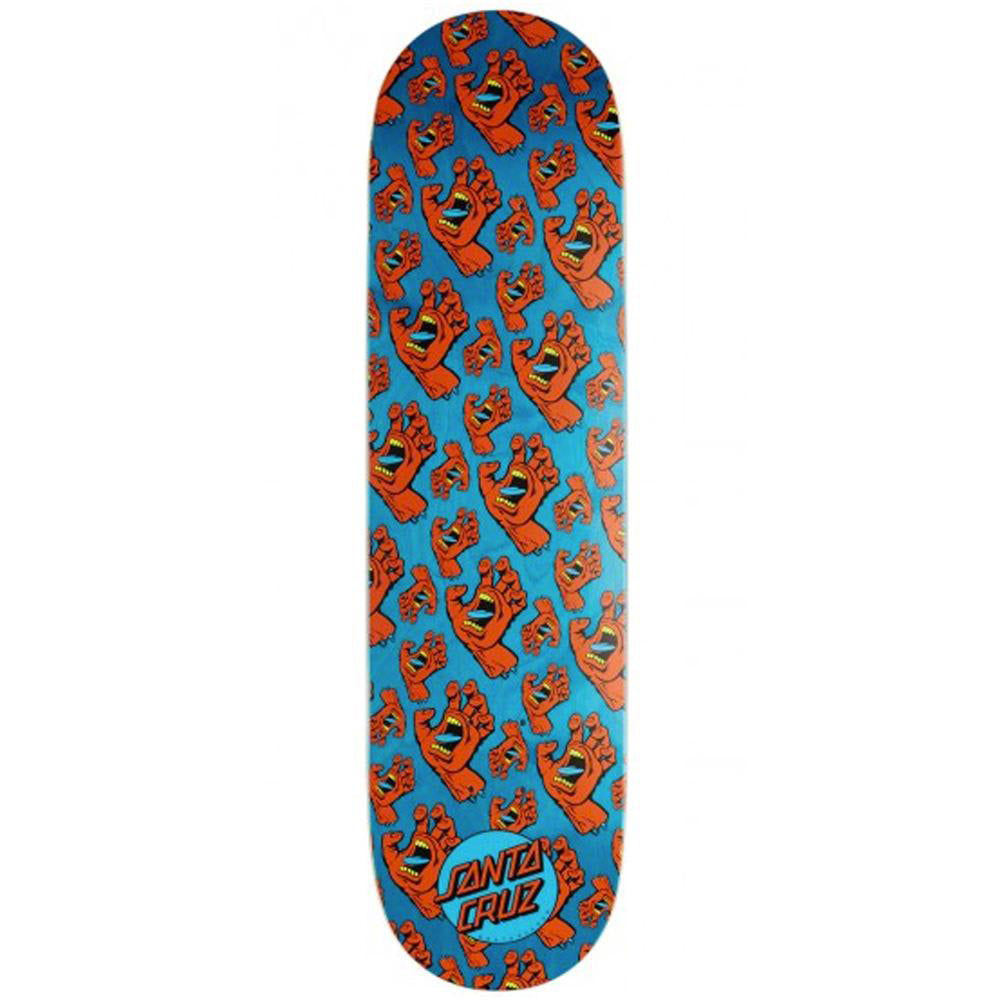 Santa Cruz Skateboards All Over Hands Skateboard Deck - 8.25