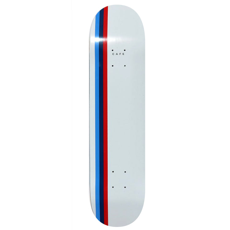 Skateboard Cafe Stripe Skateboard Deck White/Blue/Royal/Red - 8.25