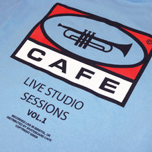 "Skateboard Cafe ""45"" Tee Carolina Blue"