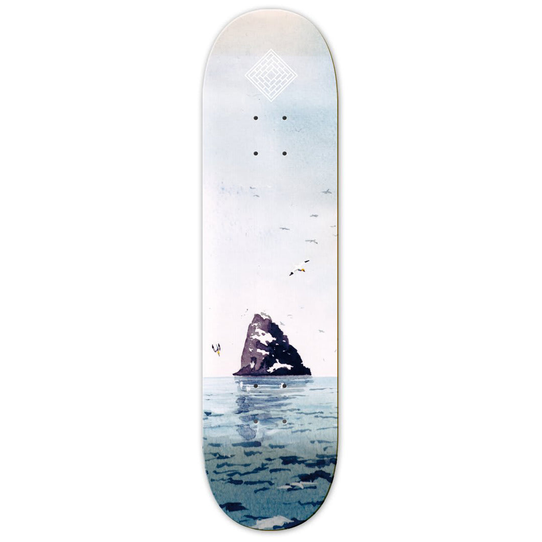 The National Skateboard Co Black Rock Skateboard Deck - 8.25 (High Concave)
