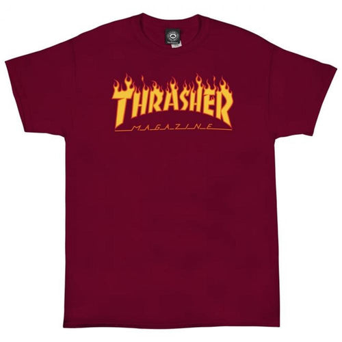 Thrasher Flame Logo Cardinal Red T-shirt