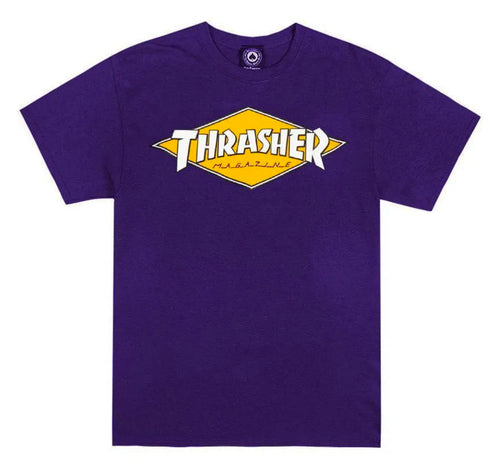 Thrasher Magazine Diamond Logo T- Shirt - Purple