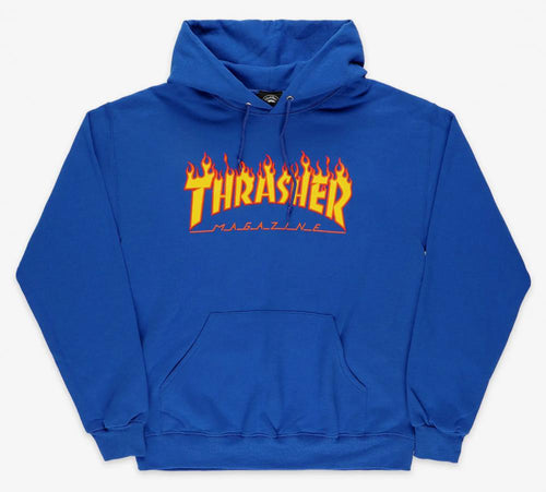 Thrasher Magazine Flame Logo Hoody - Royal