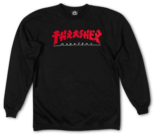 Thrasher Magazine Godzilla Crew Neck Sweatshirt - Black