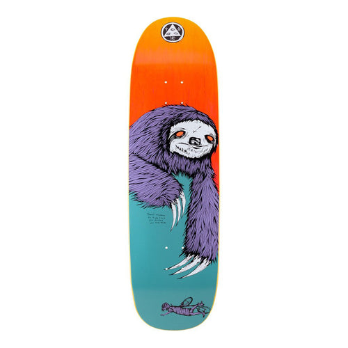 Welcome Skateboards Sloth on Boline Skateboard Deck - 9.25 (Teal/Yellow Stain)