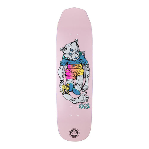 Welcome Skateboards Teddy - Nora Vasconcellos Pro Model on Wicked Queen Pink -Skateboard Deck - 8.5