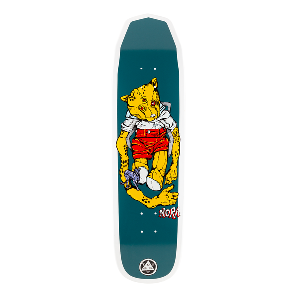 Welcome Skateboards Teddy - Nora Vasconcellos Pro Model on Wicked Queen Skateboard Deck (White Dip) - 8.6